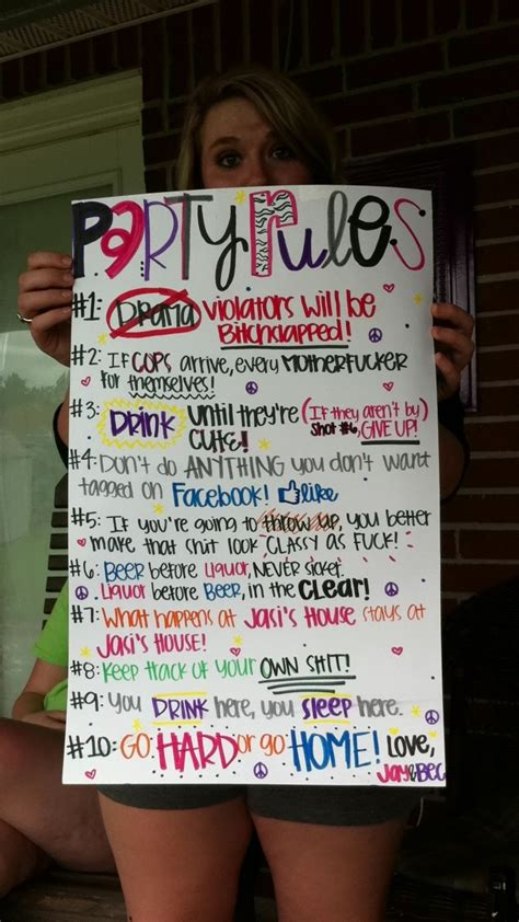 house party rules best 25 house party rules ideas on pinterest party rules adult drinking games and