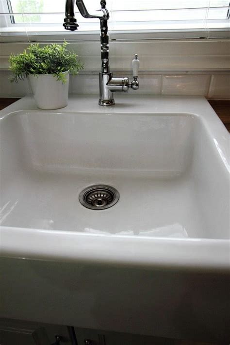 How To Clean White Porcelain Kitchen Sink How To Clean A White Porcelain Sink The Creek Line House