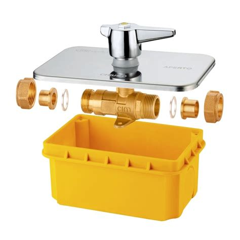rubinetto gas incasso cimberio technological solutions