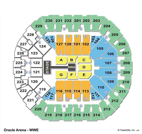 oakland arena seating oracle arena oakland ca seating chart view