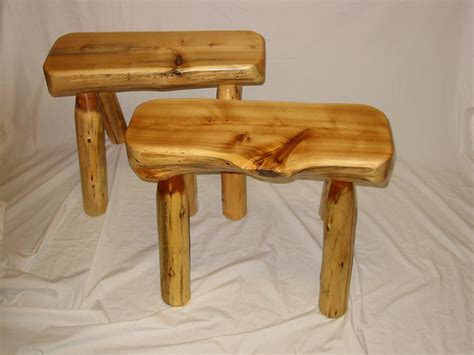 white cedar log bench 2 white cedar half log bench