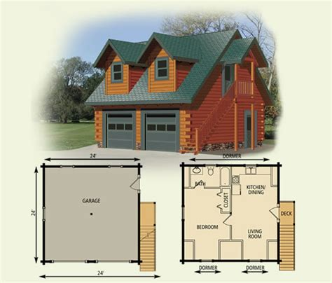 cabin plans with garage log home garage cottage