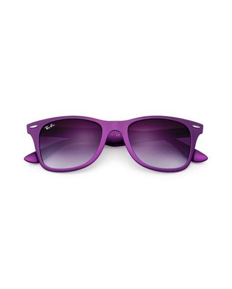 Rayban Wayfarer Liteforce Violet ban wayfarer liteforce in purple lyst