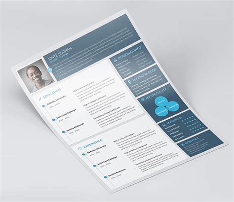 Cover Letter Template Illustrator 10 Best Free Resume Cv Templates In Ai Indesign Word Psd Formats