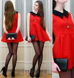ariadna majewska h amp m black bag embis black heels red
