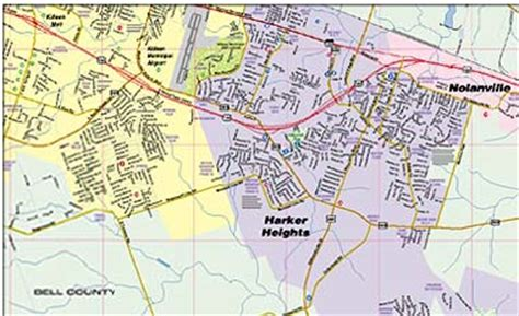 map of killeen texas and surrounding areas greater killeen fort area map