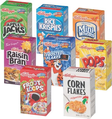 Kitchen Furniture Manufacturers Kelloggs Individual Assorted Cereal 1 02 Oz