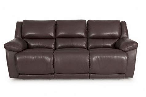 brown leather reclining sofa delray reclining brown leather sofa at gardner white