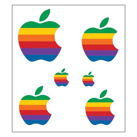 Apple Computer Aufkleber bunt retro apple computer logo sticker aufkleber