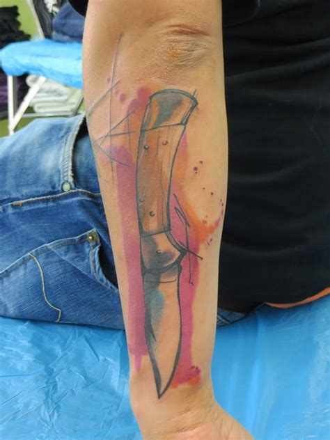 watercolor tattoos berlin watercolor by rosenbaum berlin knife