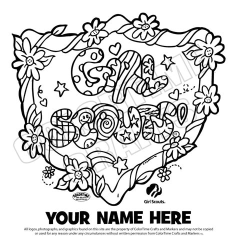 Coloring Page Girl Scout Printables Pinterest Girls Scout Coloring Pages For Brownies Printable