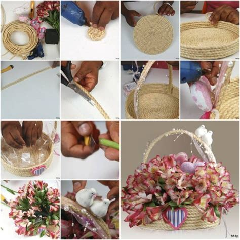 how to make a gift basket how to make rope gift basket step by step diy tutorial