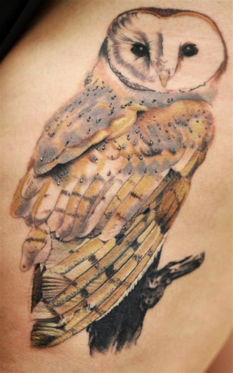 tattoo barn owl fyeahtattoos com my barn owl tattoo done on 10 24 by bob