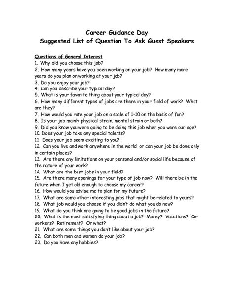 How To Ask A Or Question Questions To Ask Guest Guest Speakers Career Day