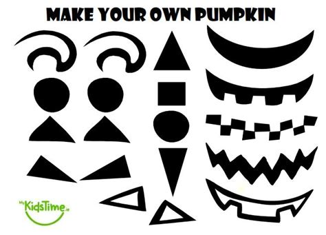 printable pumpkin eyes and mouth halloween fun create your own pumpkin