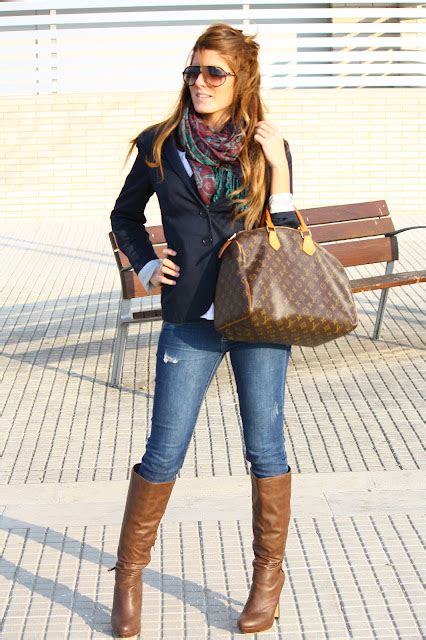 Denim Flow Set 2in1 my favorite fall blazer scarf and boots so we how to do it