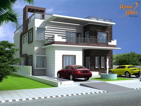 amusing duplex house exterior design 53 for your home