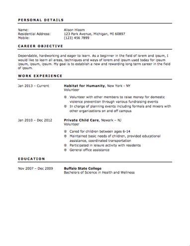 beginners resume for highschool students 12 free high school student resume exles for