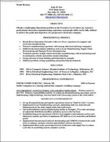 Model Resume Format For Experience by Model Resume Template Free Sles Exles Format Resume Curruculum Vitae Free