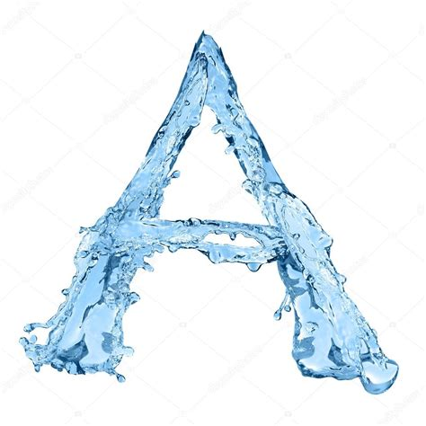 Letter A Photos alphabet made of frozen water the letter a stock photo