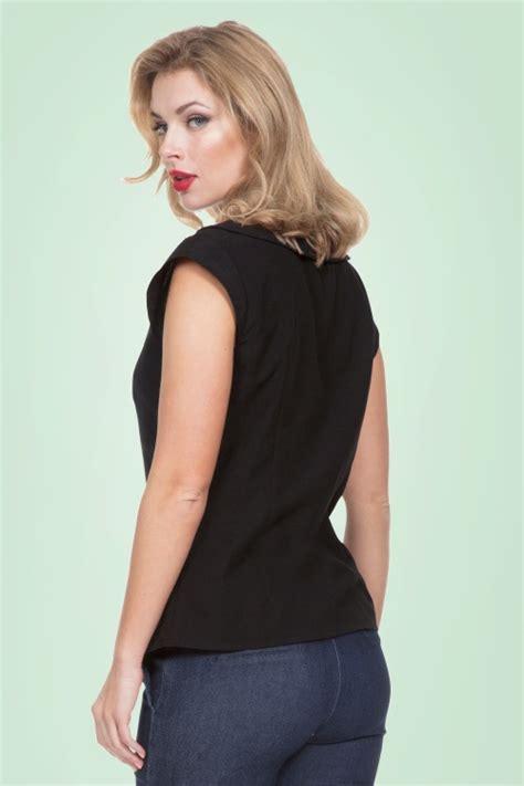 Ladybugs Blouse Size S 50s nena ladybug blouse in black
