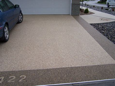 epoxy stone flooring for patio outdoor garage design epoxy