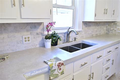 Moveable Kitchen Island Gorgeous Budget Kitchen Makeover With White Concrete