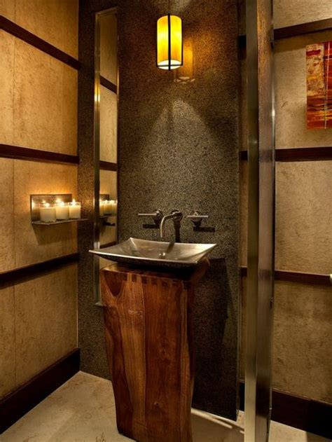 forest sinks powder room contemporary wood pedestal sink home design ideas pictures remodel