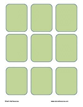 memory card template free memory card template by raki s rad resources tpt