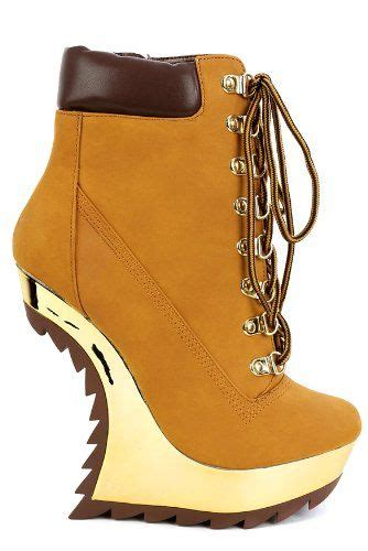 escalator wedge booties timberland style high heel less