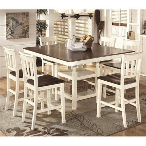 ashley whitesburg  piece counter height dining set