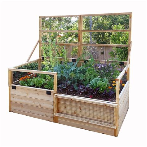 6 foot trellis outdoor living today 6 ft x 3 ft raised garden bed with