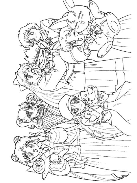free coloring pages of all the sailor scouts