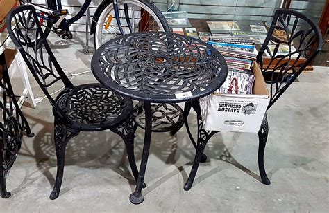 Cast Iron Bistro Chairs Cast Iron Bistro Set W 2 Chairs