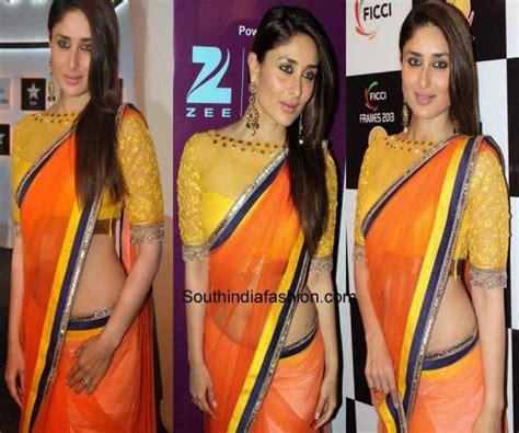 Kareena In High Neck Blouse by Kareena Kapoor Blouse Designs Chiffon Blouse Pink