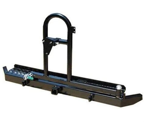 swing hitch cargo carrier garvin industries ats series swing away tire carrier with hitch and d ring mounts 71000 rear