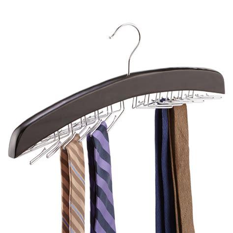 Tie Hanger - walnut 24 tie hardwood hanger the container store
