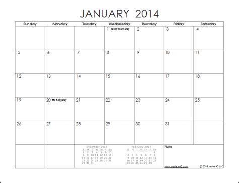 calendar 2014 template printable 5 best images of 12 month calendar 2014 printable