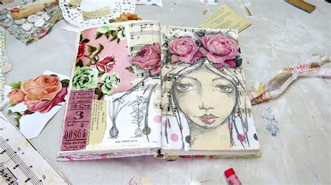 painting pages creating a mixed media journal page