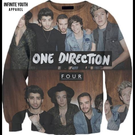 Hoodie One Derection 4 one direction four crewneck sweater on the hunt