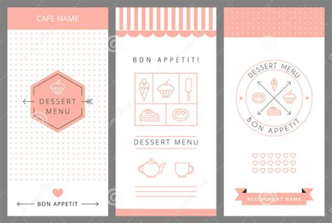dessert menu templates 21 free psd eps format download