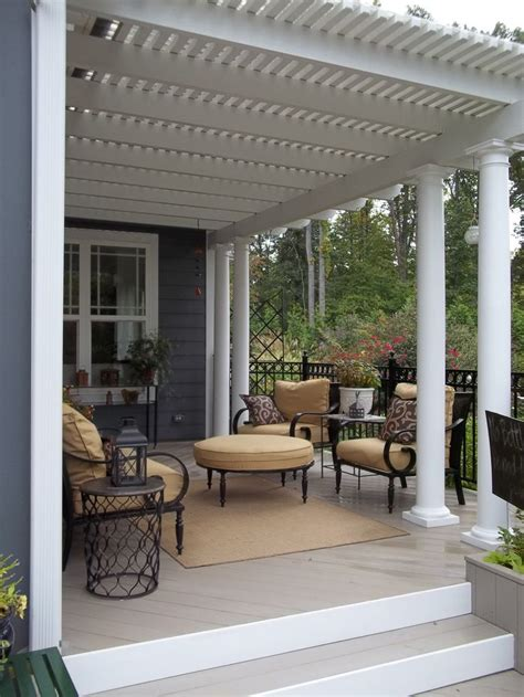 images  deck shade ideas  pinterest covered patios decks  sprinkler pipe