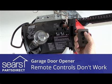 Garage Door Won T Open Garage Door Help How To Program Your Garage Door Remo