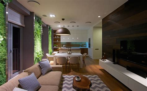 Awesome Best Modern Living Rooms #5: Modern_Apartment_Design_Green_Walls_by_SVOYA_on_architecture_beast-19.jpg