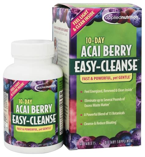 Acai Cleanse 10 Day Detox Reviews by Buy Applied Nutrition 10 Day Acai Berry Easy Cleanse