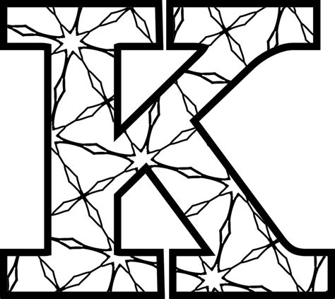 k color free printable alphabet letters coloring pages