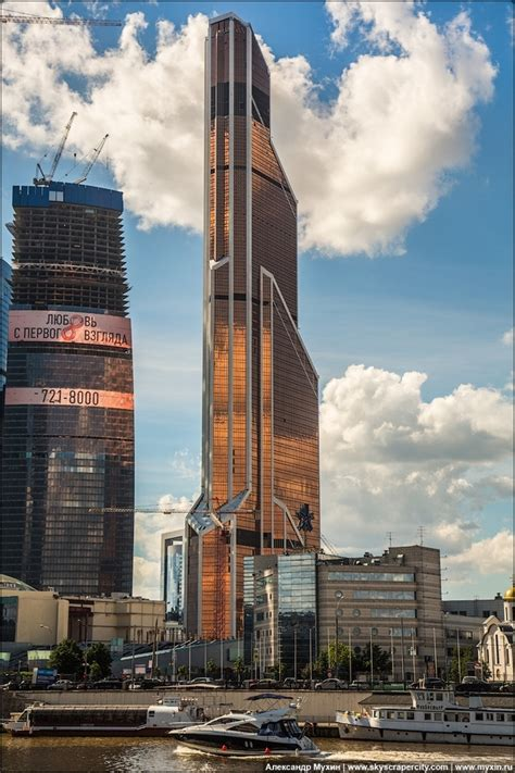The newly constructed Mercury City Tower Moscow Russia