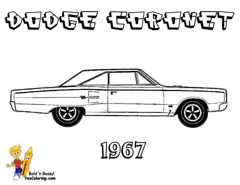 free 1968 dodge charger coloring pages