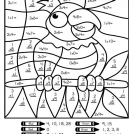 easy multiplication coloring pages color by number multiplication worksheets coloring pages