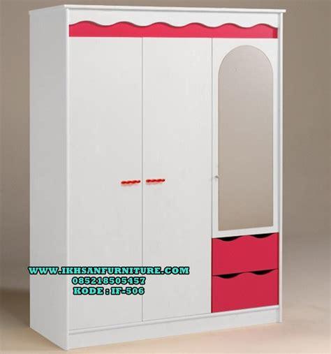 Lemari Olympic Baju Anak model lemari baju anak perempuan lemari pakaian anak 3 pintu ikhsan furniture jepara